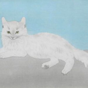 藤田嗣治の白い猫を買取いたしました。
