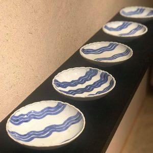 古染付  水文皿  明時代末の厚手を買い取りました。