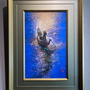 松村公嗣の絵画作品、 舟唄を買い取りました。